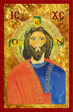 Icon of Jesus Christ, bytantine style. Digital illustration. Royalty Free Stock Images