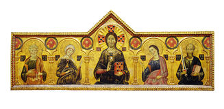 Icon of Jesus Christ. Surrounded by saints Royalty Free Stock Photography