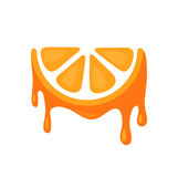 Icon of Juicy Orange Stock Photography