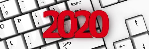 2020 icon on keyboard #2 stock illustration