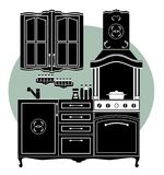 Icon of kitchen Royalty Free Stock Images