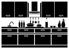 Icon of kitchen Stock Images