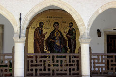 Icon, Kykkos Monastery Cyprus. Stock Photos