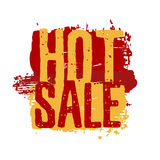 Icon, label, logo, sticker on hot sale. Red and Royalty Free Stock Image