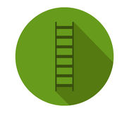 Icon ladder illustrated and colored. On white background Stock Image