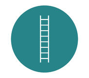 Icon ladder illustrated and colored. On white background Royalty Free Stock Photography