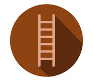 Icon ladder illustrated and colored. On white background Stock Photos