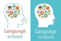 Icon of the language school Royalty Free Stock Images