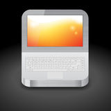 Icon for laptop Stock Photography