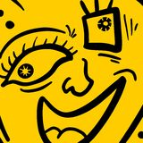Icon laught Stock Photo