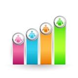 Icon lead color graph illustration Stock Photo