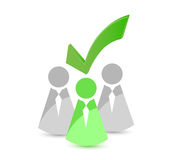 Icon leader selected illustration design Stock Photo