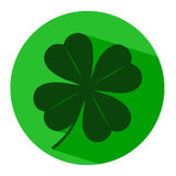 Icon leaf clover. On the image  is presented icon leaf clover Royalty Free Stock Image