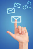 Icon of letter Royalty Free Stock Image