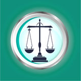 Icon of libra Stock Photo