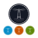 Icon  lighthouse, vector illustration Royalty Free Stock Images