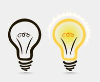 The icon lights on and off. Vector stock illustration