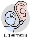 Icon listen. Creative design of icon listen Stock Image