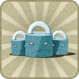 Icon with locks Royalty Free Stock Images
