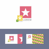 Icon Logo design element with business card template Stock Image