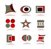 Icon Logo Elements Set. Illustration of a nice funky icons and logos Stock Images