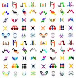 Icon Logo Vector Set Collection. Illustration of a huge set of icons and logos Royalty Free Stock Photo