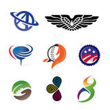 Icon Logos. Logo set showing different concepts Royalty Free Stock Images