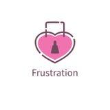 Icon love frustration. Heart lock. Vector illustration Stock Photography