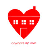 Icon of love. Vector illustration, metaphor of passion. Template for Valentine`s day. Helpful element for web design and print. Editable  with a wide range of Royalty Free Stock Photo