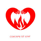 Icon of love. Vector illustration, metaphor of passion. Template for Valentine`s day. Helpful element for web design and print. Editable  with a wide range of Stock Photo