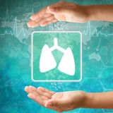 Icon Lung in hand Stock Image