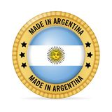 Icon made in Argentina. On a white background Royalty Free Stock Images