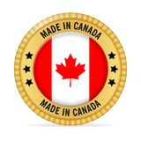 Icon made in Canada. On a white background Royalty Free Stock Image