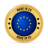 Icon made in EU. On a white background Royalty Free Stock Photos