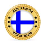 Icon made in Finland. On a white background Stock Images