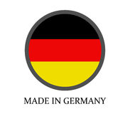 Icon made in germany illustrated Stock Photography