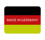 Icon made in germany illustrated Royalty Free Stock Photo