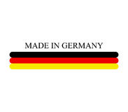 Icon made in germany illustrated Royalty Free Stock Image