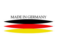 Icon made in germany illustrated Royalty Free Stock Photography