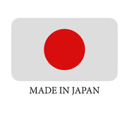 Icon Made in Japan illustrated Royalty Free Stock Image