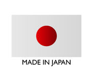 Icon Made in Japan illustrated Royalty Free Stock Photo