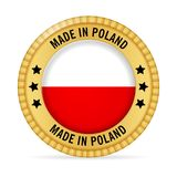 Icon made in Poland. On a white background vector illustration