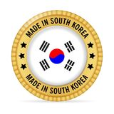 Icon made in South Korea Stock Images