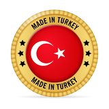 Icon made in Turkey Royalty Free Stock Images