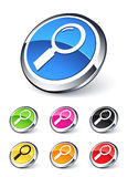 Icon Magnifying Glass Royalty Free Stock Photo