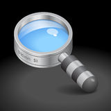 Icon for magnifying glass Royalty Free Stock Photo