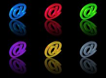 Icon mail set 3D Stock Images