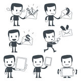 Icon man. Vector illustration of a simple cute characters for use in presentations, manuals, design, etc Stock Photo