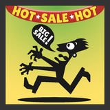 Icon of man buyer. Go for shopping. Vector illustration Royalty Free Stock Photo