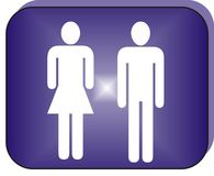 Icon Man and Girl Stock Photos